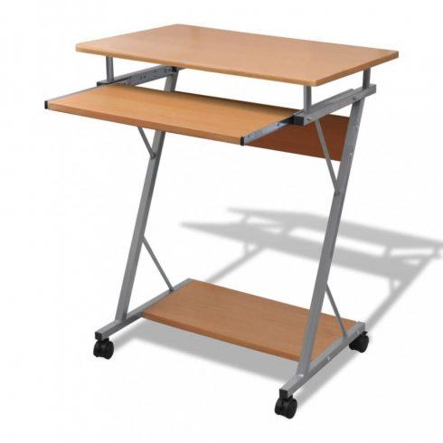 Computer iróasztal kihúzható tálcás office diák asztal barna