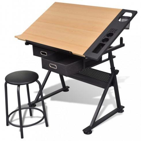 Billenthető asztal rajzoló asztal székkel