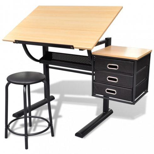 Billenthető íróasztal székkel