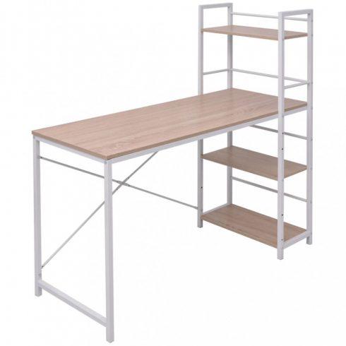 Tölgy íróasztal 4 szintes könyvespolccal