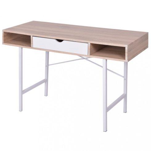 Íróasztal 1 fiókkal tölgy és fehér
