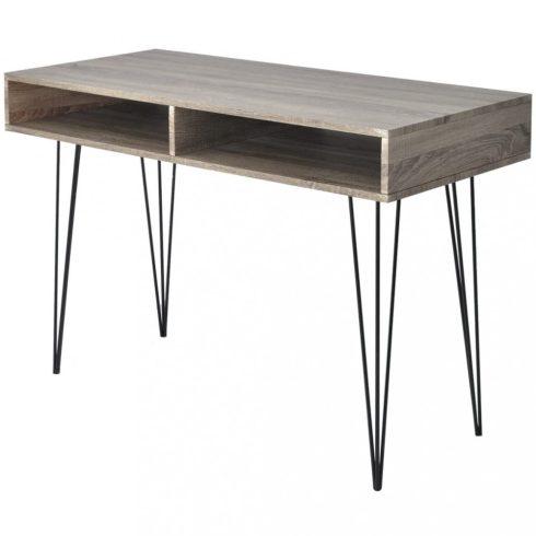 2 rekeszes szürke íróasztal