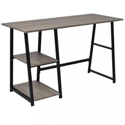 Szürke, tölgy íróasztal 2 polccal