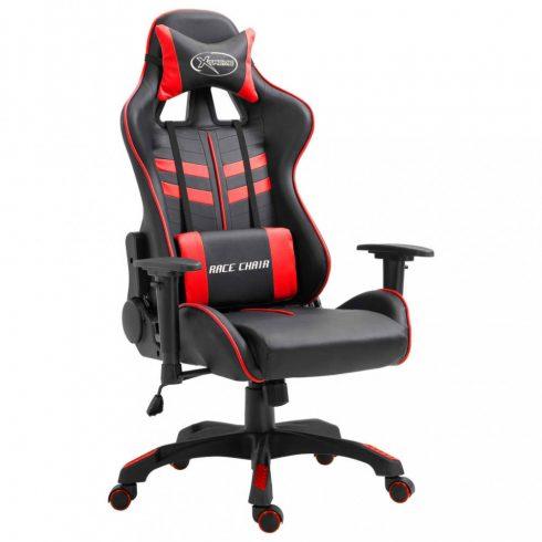Piros pu gamer szék