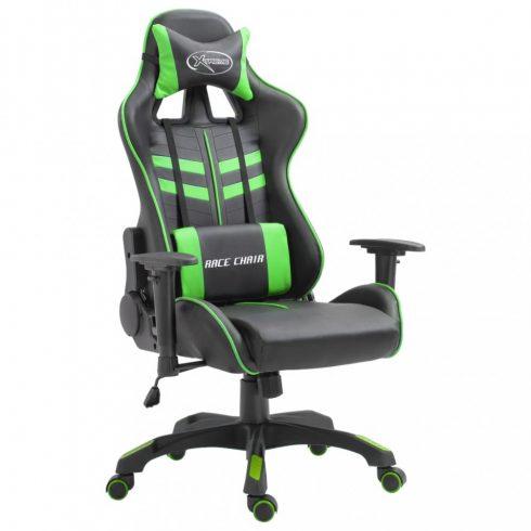 Zöld pu gamer szék