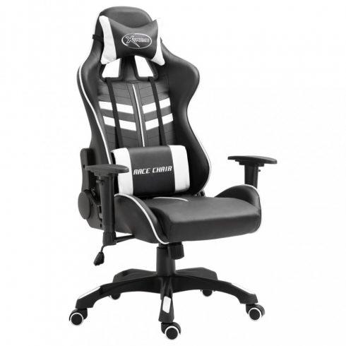 Fehér pu gamer szék
