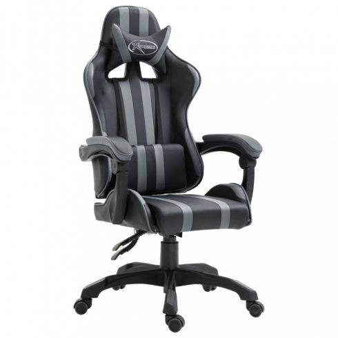 Szürke pu gamer szék