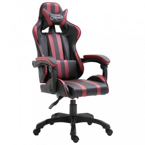 Bordó pu gamer szék