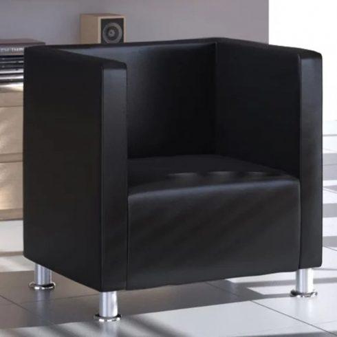 Fekete műbőr fotel