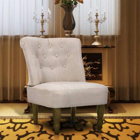 1 db francia szék / fotel krém
