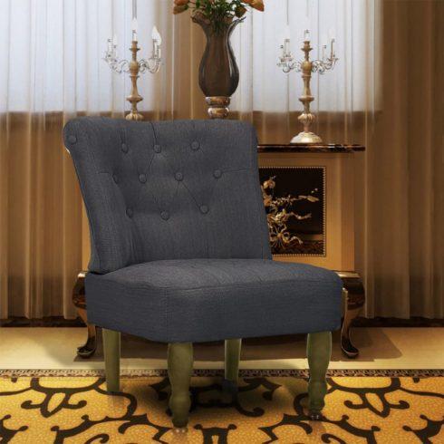 Szürke francia szövet fotel