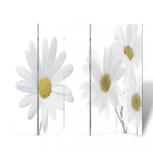 Virágmintás paraván 200 x 170 cm