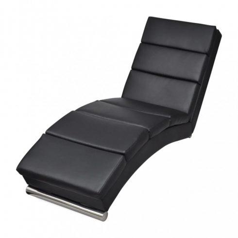 Fekete műbőr pihenőszék