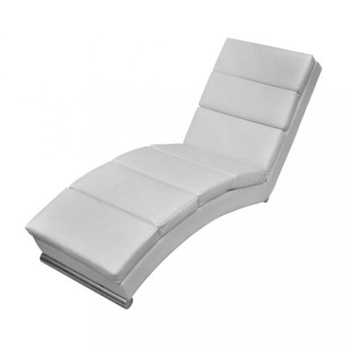 Fehér műbőr pihenőszék