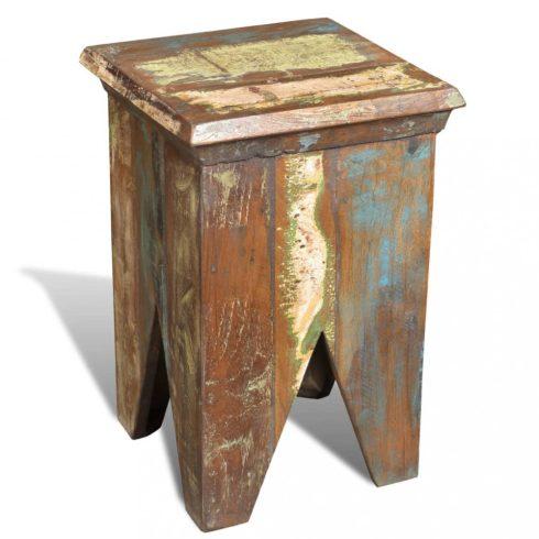 Antik stílusú újrahasznosított fa kisszék