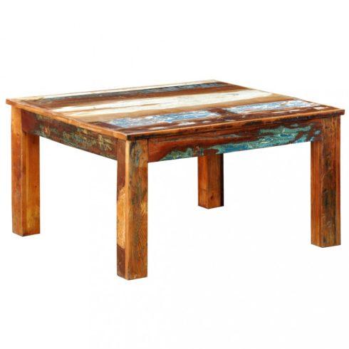 Négyzet alakú tömör újrahasznosított fa dohányzóasztal
