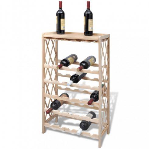 Fa bortartó állvány 25 palackhoz