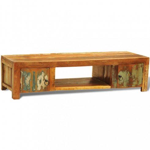 Újrahasznosított fa tv szekrény 2 ajtós antik stílus