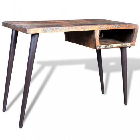 Visszanyert fa íróasztal vas lábakkal