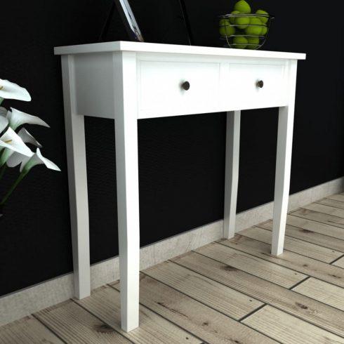 Fehér fésülködőasztal kettő fiókkal