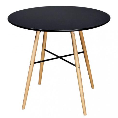 Fekete kör alakú mdf étkezőasztal