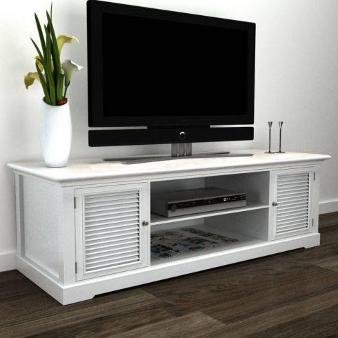 Fa tv állvány fehér
