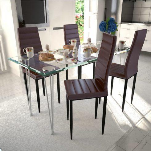 4 db barna karcsúsított étkezőszék