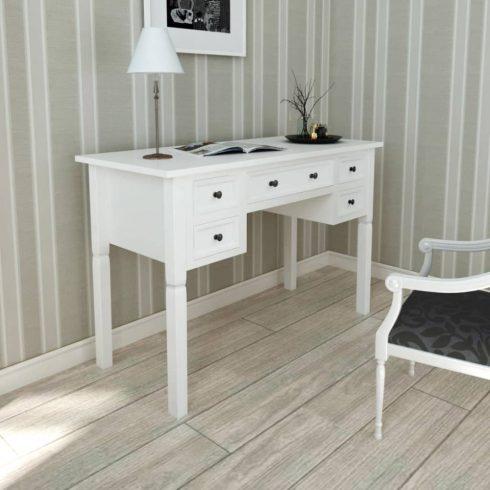 Fehér íróasztal 5 fiókkal