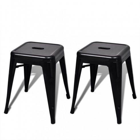2 db fekete rakásolható fém ülőke