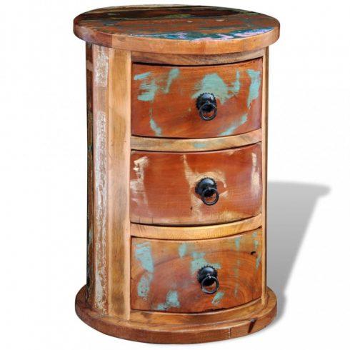 3 fiókos tömör újrahasznosított fa szekrény