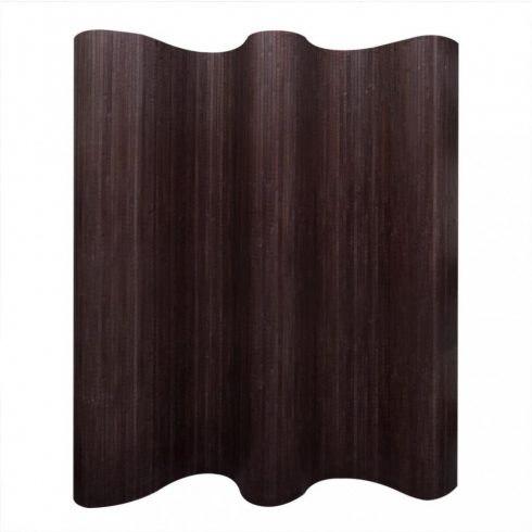 Sötétbarna bambusz paraván 250 x 165 cm