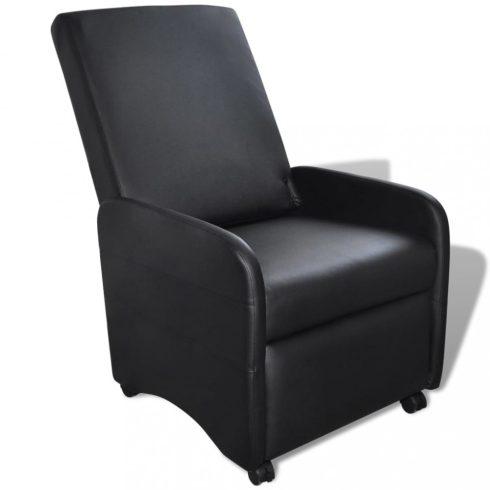 Fekete összecsukható műbőr fotel