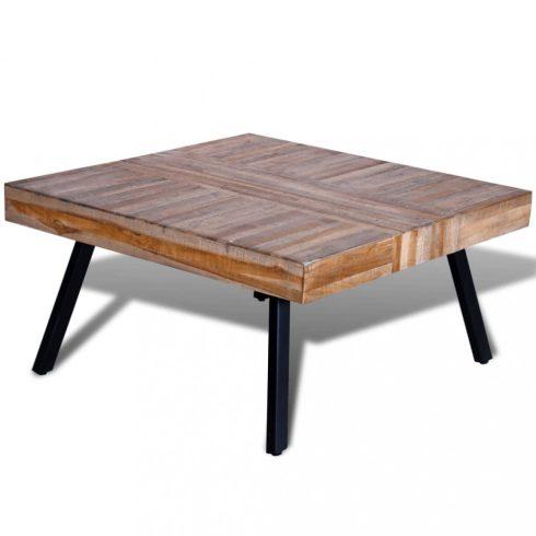 Négyzet alakú újrahasznosított tíkfa dohányzóasztal