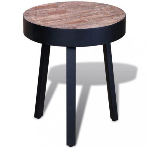 Kör alakú újrahasznosított tíkfa kisasztal