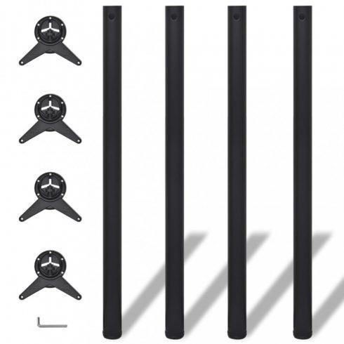 4 db állítható magasságú asztalláb 1100 mm fekete