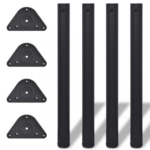 4 db állítható magasságú asztalláb 710 mm fekete