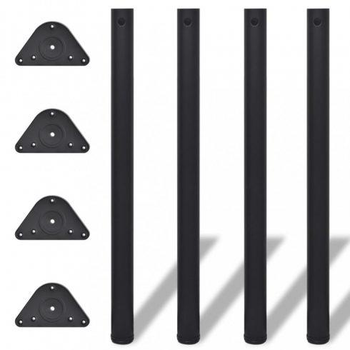 4 db állítható magasságú asztalláb 870 mm fekete