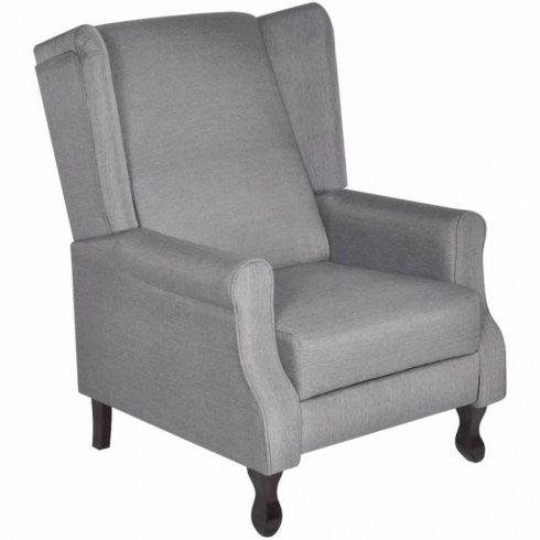 Állítható tv néző szövet fotel szürke