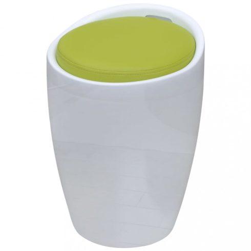 Bárszék levehető zöld kerek műbőr üléssel