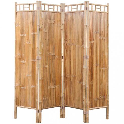 4 paneles bambusz paraván