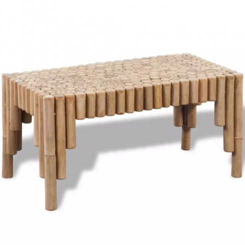 Bambusz dohányzóasztal
