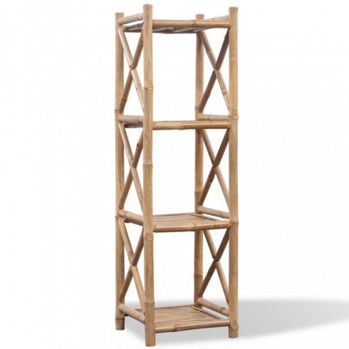 4 szintes szögletes bambusz polc