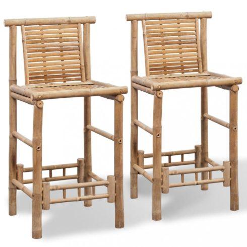 2 db bambusz bárszék