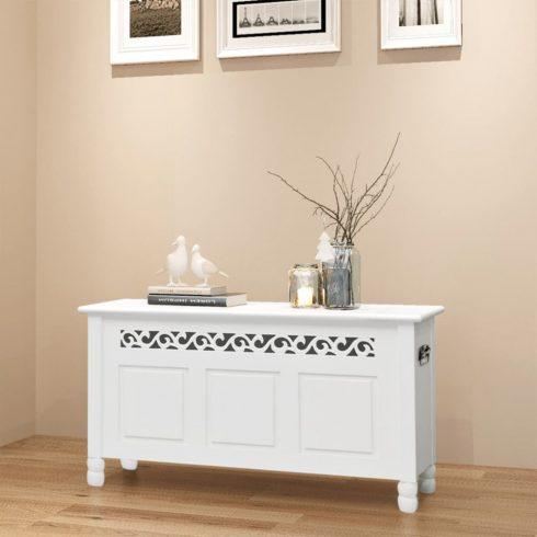 Fehér mdf barokk stílusú tároló láda