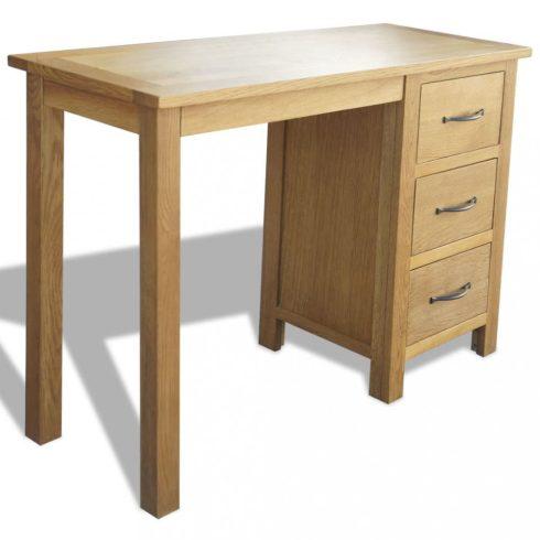 Háromfiókos tömör tölgyfa íróasztal 106 x 40 x 75 cm