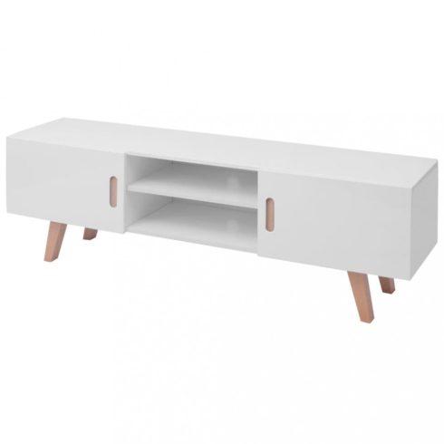 Magasfényű fehér mdf tv-állvány 150 x 35 x 48,5 cm
