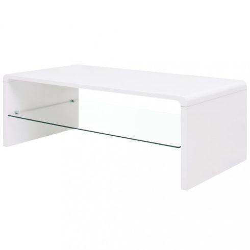 Fényes fehér dohányzóasztal