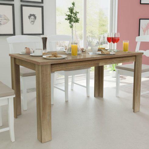 Tölgyfa étkezőasztal 140x80x75 cm