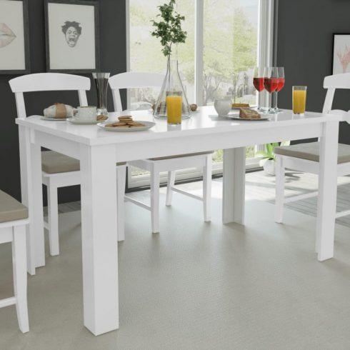 Étkezőasztal 140 x 80 x 75 cm fehér