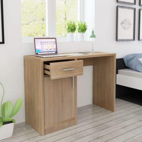 Tölgyfiókos íróasztal 100x40x73 cm